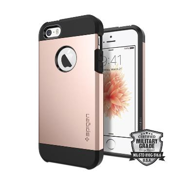 Spigen Tough Armor Casing for iPhone SE/5s/5 - Rose Gold