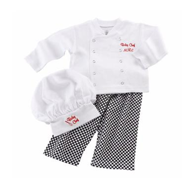 Spunky Kids Baby Chef Outfits - White