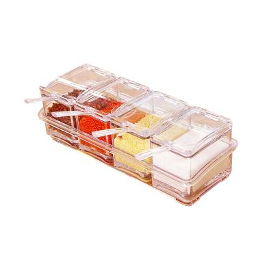 StarHome Seasoning Box 4 in 1 Kristal Tempat Bumbu