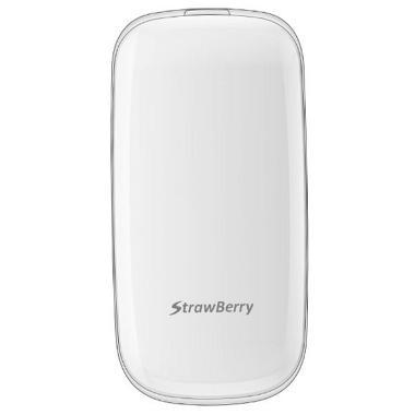 Strawberry Flip S1272 Handphone - White