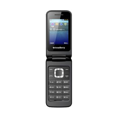 Strawberry Flip ST3520 Handphone - Black