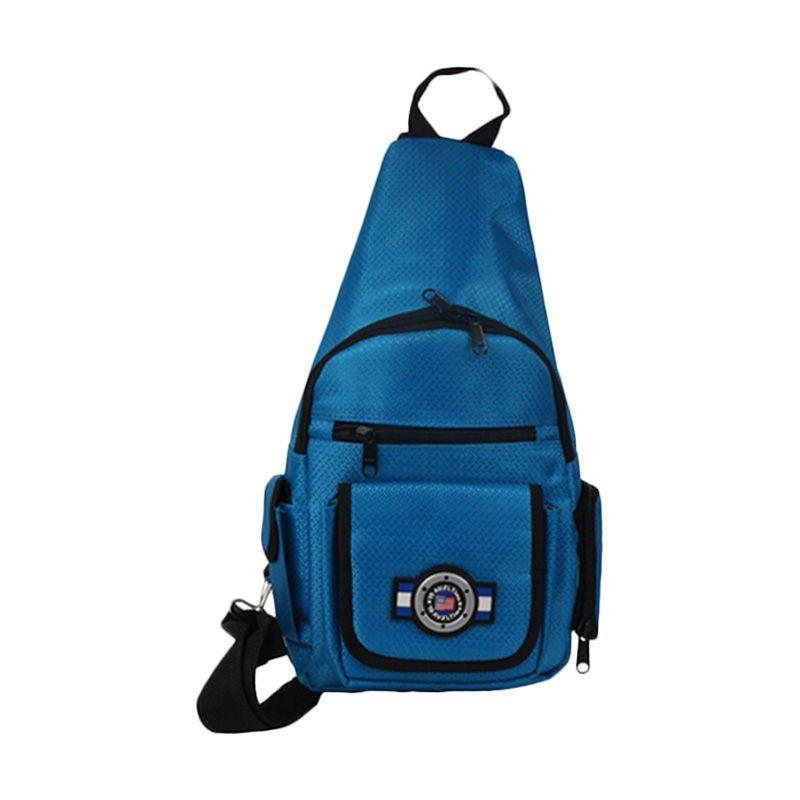 Traveltime PAU 914 Shoulder Blue Tas Pria