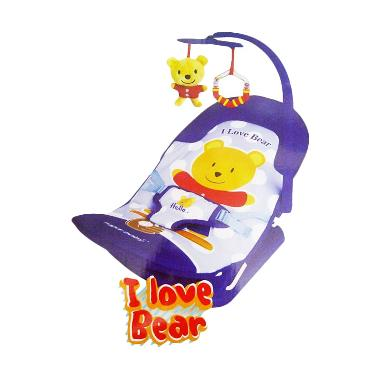 Sugar Baby I Love Bear Fold Up Infant Seat Bouncer