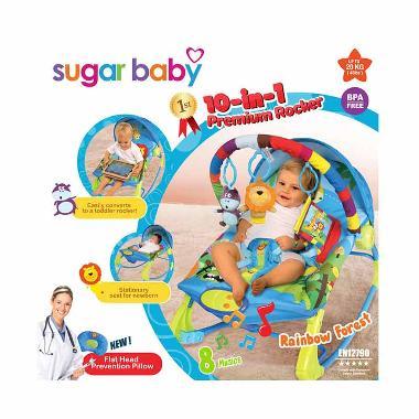 Sugar Baby Premium Rainbow Forest Rocker Tempat Tidur Bayi [10 in 1]