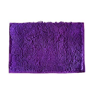 Sugu Keset Kaki Cendol Anti Slip - Ungu Muda [60 x 40 cm]