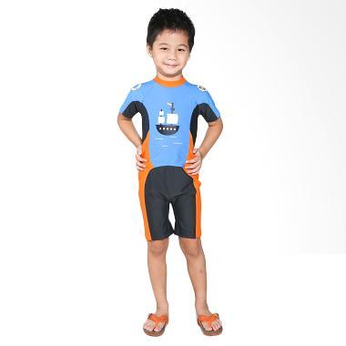 Summer Chicks Starfish Blue Ahoy KTS R 77 Turkis Baju Renang Anak