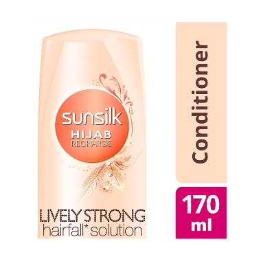 Sunsilk Hijab Recharge Conditioner Lively Strong Anti Hairfall 170ml