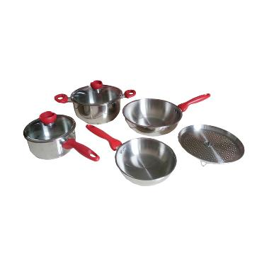 Supra Panci Set 7 Pieces Stainless Impact