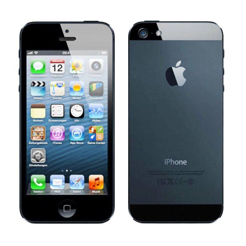 Jual Apple IPhone 5 Black Smartphone 16 GB Garansi