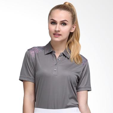 Svingolf Batik Botanical Polo Baju Golf - Titanium Grey
