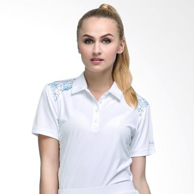 Svingolf Batik Botanical Polo Baju Golf - White
