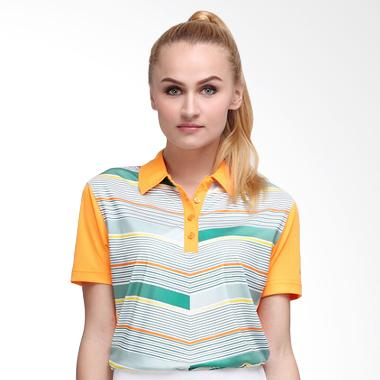 Svingolf Flying V Polo Baju Golf - Mandarin Orange