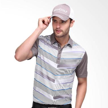 Svingolf Flying V Polo Baju Golf - Titanium Grey
