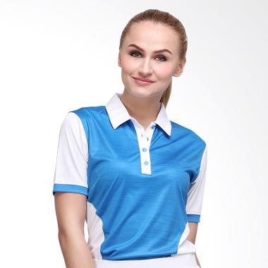Svingolf Iron Polo Baju Golf - White/Dusk Blue