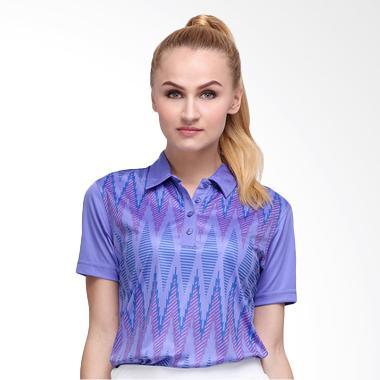 Svingolf Tenun Polo Baju Golf - Violet Dusk Purple