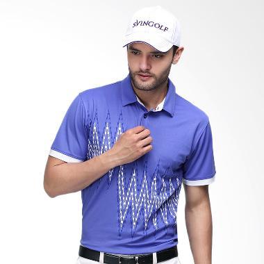 Svingolf Zap Polo Baju Golf - Violet White