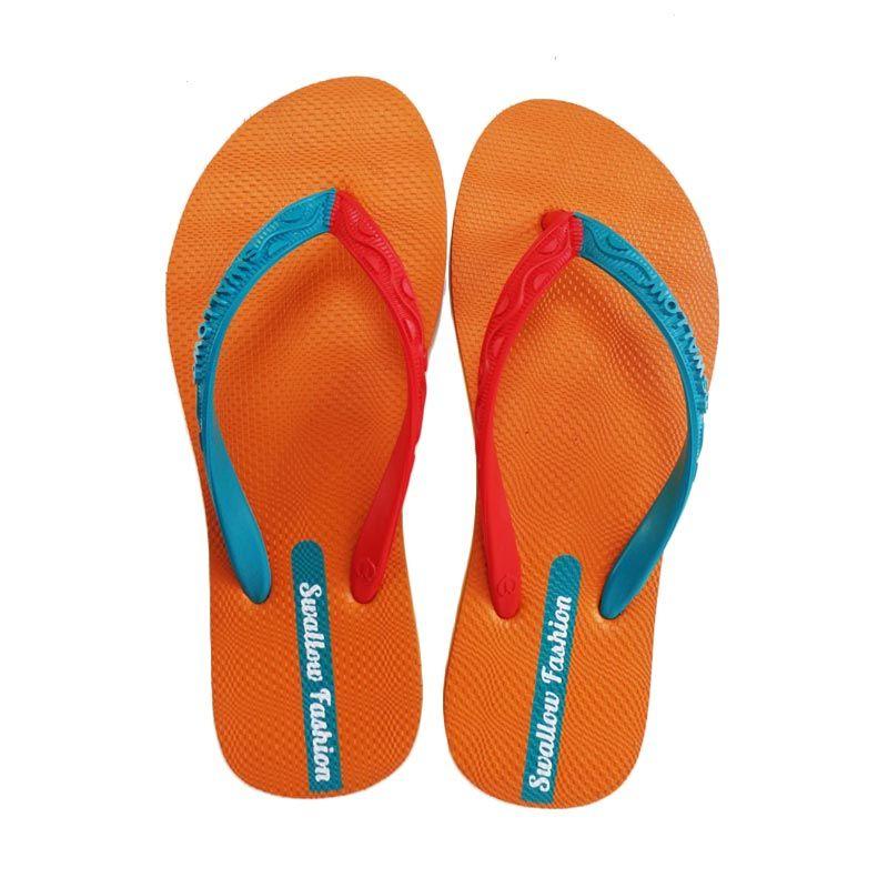 Jual Swallow FASHION FEMALE Orange Sandal Jepit Online