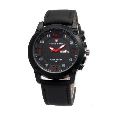 Swiss Army 002 Jam Tangan Pria - Black Merah