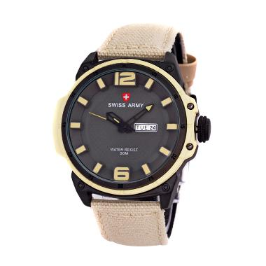 Swiss Army SA4081 GAS Jam Tangan Sport Pria - Cream