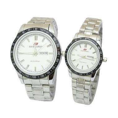 Swiss Army SA 11036 AD Jam Tangan Couple - White