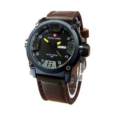 Swiss Army SA 2765 AD Jam Tangan Pria - Black Brown