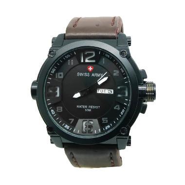 Jam Tangan Swiss Army SA005A Pria -Black Brown