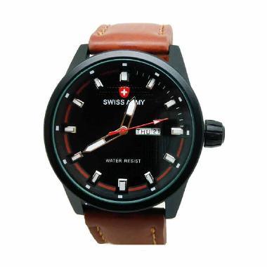 Swiss Army SA7415 Jam Tangan Pria - Coklat Muda