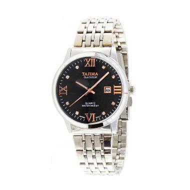 Tajima 5024 GA 01 Analog Watch Date Jam Tangan Pria - Black
