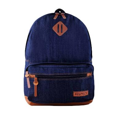 Tas Mania Respect Levis Denim Backpack - Biru Jeans