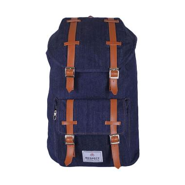 Tas Mania Respect Mountain Denim Tas Ransel - Biru Jeans