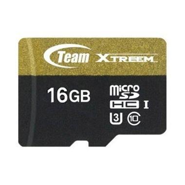 Team XTreem UHS-1 Micro SDHC Hitam Memory Card [16 GB] - strglt