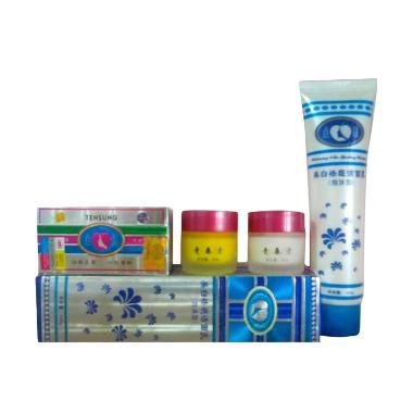 Pemutih Wajah Herbal Cream Tensung + Pembersih