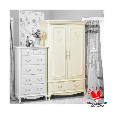 The Olive House Queen Anne Wardrobe Lemari Pakaian