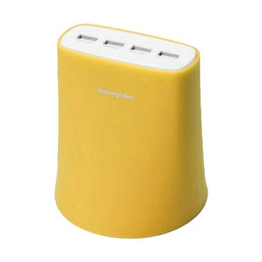 Thecoopidea Jelly USB Charger - Yellow [4 Port USB/5.1A]