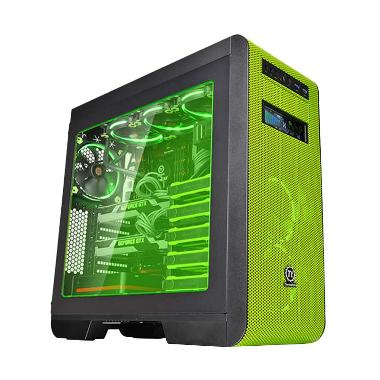 Thermaltake Core V51 Riing Edition Black Green ATX Gaming Mid Tower Casing For CPU