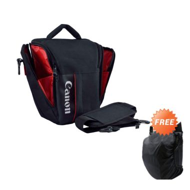 Third Party Kode S Tas Kamera for Canon  + Rain Cover