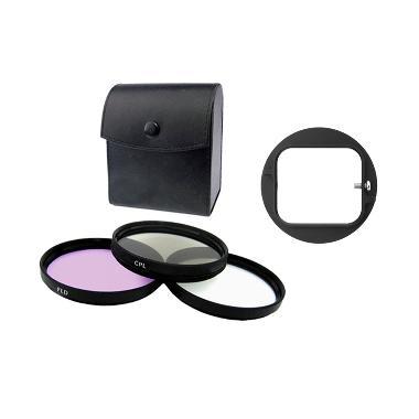 Third Party Filter Kit 58mm Filter Lensa [ND/CPL/FLD] + Free Third Party Bracket Filter 58mm