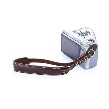 Third Party Kulit Coklat Kopi Wrist Strap Kamera for Mirrorless
