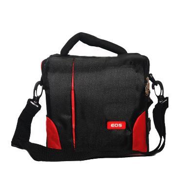 Third Party Kotak EOS kode 041/409 Hitam Merah Sling Bag Tas Kamera