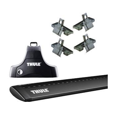 Thule Roof Rack Set 2 untuk Nissan March Hatchback 2010 - 2016