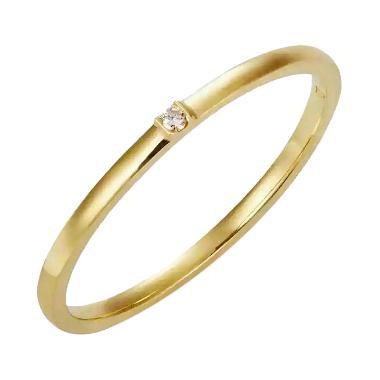 Tiaria Joy Perhiasan Cincin Pernikahan Emas Kuning [18K]