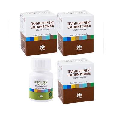 Tiens Peninggi Herbal - Paket Silver [3 Kalsium, 2 Zinc]