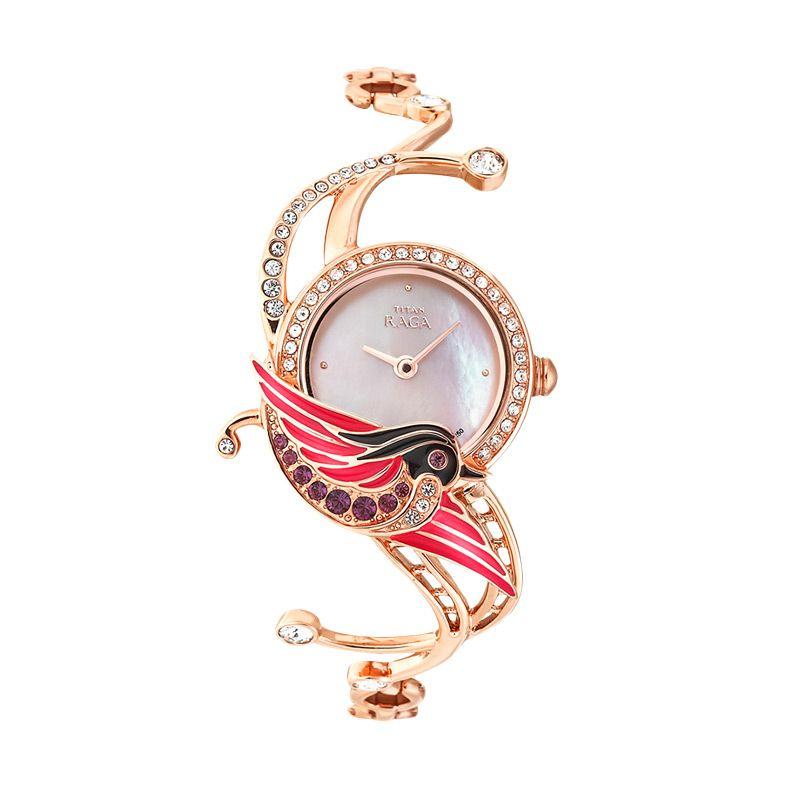 Titan Ti95004Wm01 Raga Garden Of Eden Bracelet Gold Jam Tangan Wanita