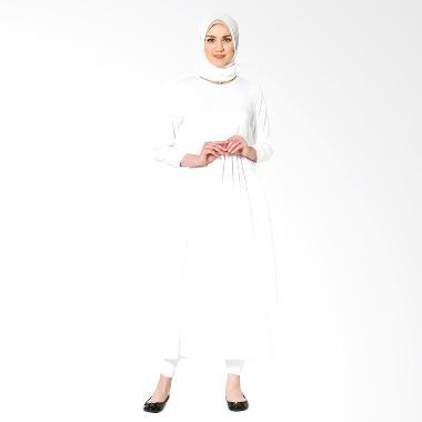 Tiras Basic Aliqa Gamis - White