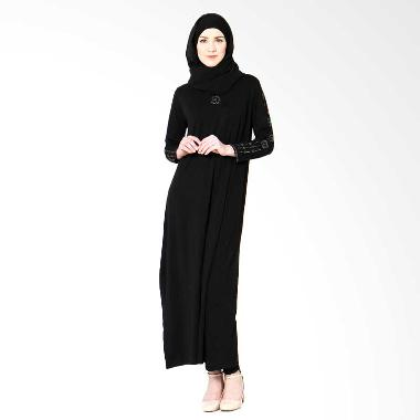 Tiras Gamis Permata Dress Muslim - Basic Hitam