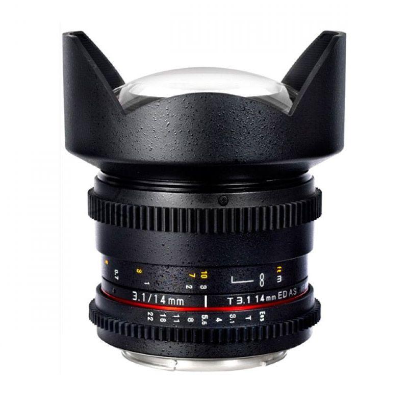 Samyang For Canon 14mm T3.1 VDSLR II Black Lensa Kamera