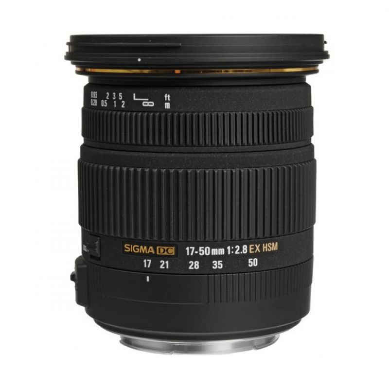 Sigma 17-50mm F/2.8 EX DC OS HSM Hitam Lensa for Canon   F'Canon