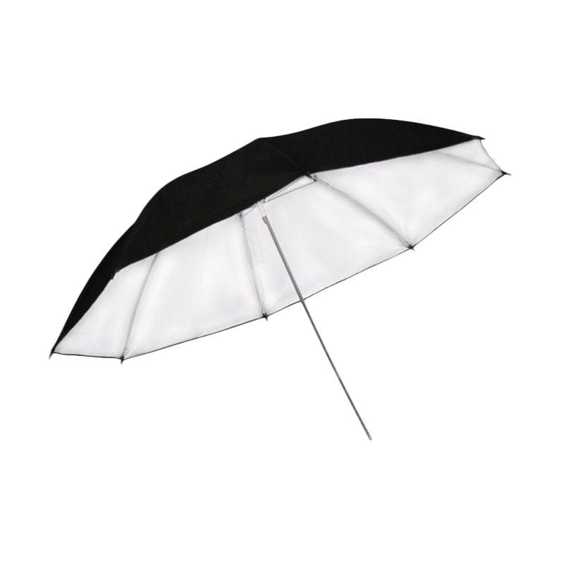 Universal Reflective Umbrella - Black Silver [33 Inch] Tokocamzone