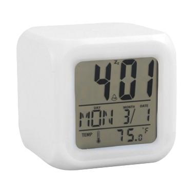 jam Moody Kubus HHM117 Jam Alarm with Pengukur Suhu [Berubah 7 Warna]