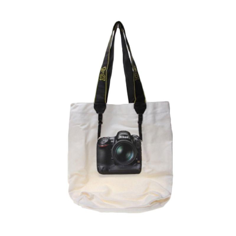 Kalno Nikon Tote Bag White Tas Tang ...